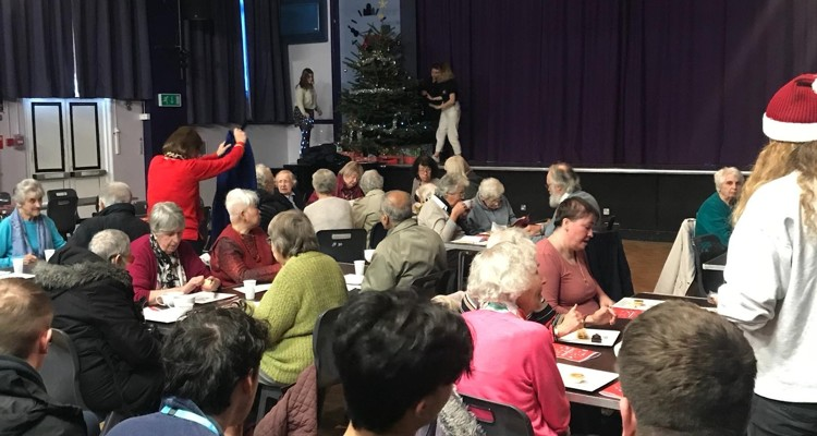 Sixth Form welcome local senior citizens to Christmas celebrations