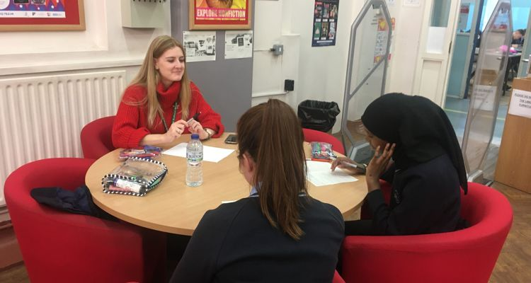 Chiswick Students working with Foreign Language Assistants