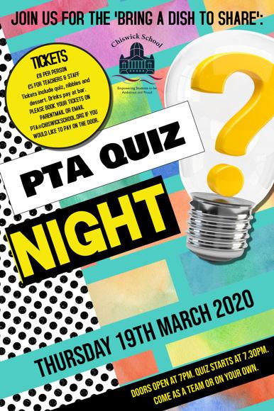 PTA Quiz Night Poster