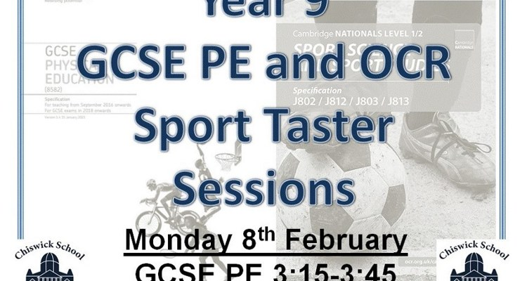 Year 9 GCSE PE and OCR Taster Sessions