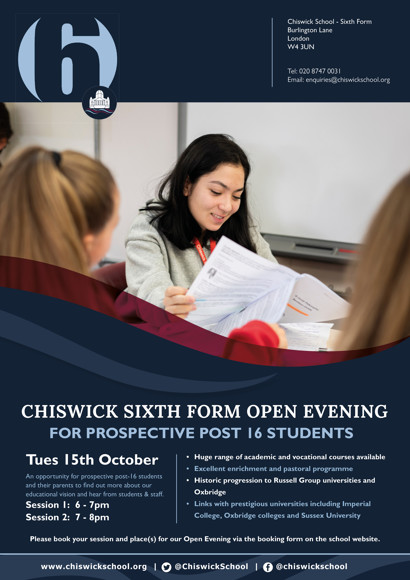 Chiswick 6 Eve Flyer 2019